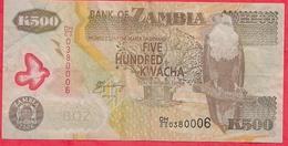 Zambie 500 Kwacha 2006  Dans L '  état - Zambie