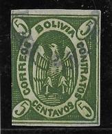 Bolivie N°2 - Oblitéré - Au Filet - B - Bolivie
