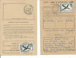 2 Ordres De REEXPEDITION Avec N° 40 P A (caravelle à 5.00fr).......à Voir - 1961-....