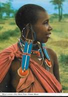 TANZANIA - DONNA MASAI - VIAGGIATA 1971 FRANCOBOLLO ASPORTATO - Africa