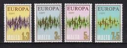 Europa CEPT - Malta - MNH - M 450-453 - 1972