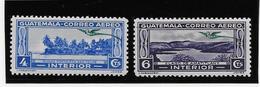 Guatemala Poste Aérienne N°54/55 - Neuf * Avec Charnière - TB - Guatemala