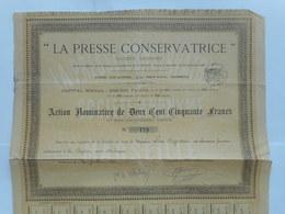 LA PRESSE CONSERVATRICE   1890 MARSEILLE - Autres