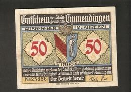 T.  Germany Notgeld Der Stadt Gemeinde Emmendingen 50 Pfennig 1921 - Cornelias Grab - [11] Local Banknote Issues