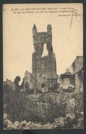 """+++ CPA - Guerre 1914-18 - Militaria - Front Belge - """"Ce Que Les Boches Ont Fait De L'Eglise De RENINGHE - RENINGE   // - Lo-Reninge"""