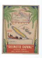 """Nouvelle-Calédonie Protège-cahier Carte Géographique Grands Rabats TB 3 Scans """"Reinette Duval"""" Colonies Françaises - Produits Pharmaceutiques"""