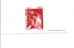 GRAVURE DU N°3835 J B GREUZE - Documents De La Poste