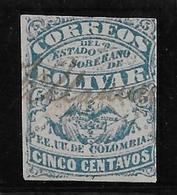 Colombie Bolivar N°8 - Oblitéré - B/TB - Colombia