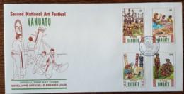 Vanuatu - FDC 1991 - YT N°860 à 863 - Festival D'art Populaire - Vanuatu (1980-...)