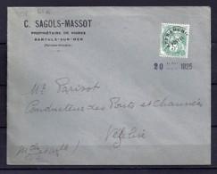 PREO N° 41a  SUR LETTRE - 1893-1947