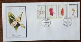 Vanuatu - FDC 1982 - YT N°647 à 649, 655 - Flore / Orchidées - Vanuatu (1980-...)