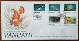 Vanuatu - FDC 1987 - YT N°777 à 781 - Faune / Poissons - Vanuatu (1980-...)