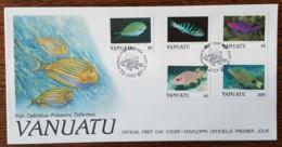 Vanuatu - FDC 1987 - YT N°773 à 776, 782 - Faune / Poissons - Vanuatu (1980-...)