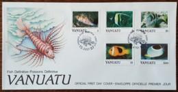 Vanuatu - FDC 1987 - YT N°769 à 772, 783 - Faune / Poissons - Vanuatu (1980-...)