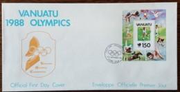Vanuatu - FDC 1988 - YT BF N°11 - Jeux Olympiques De Séoul / Tennis - Vanuatu (1980-...)