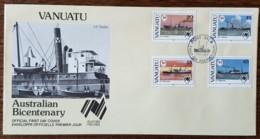 Vanuatu - FDC 1988 - YT N°801 à 804 - Implantation Des Premiers Colons En Australie - Vanuatu (1980-...)