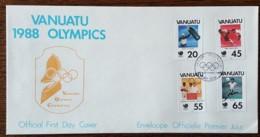 Vanuatu - FDC 1988 - YT N°806 à 809 - Jeux Olympiques De Séoul / Sports - Vanuatu (1980-...)