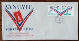 Vanuatu - FDC 1989 - YT N°830, 831 - Philexfrance'89 / Exposition Philatélique Internationale - Vanuatu (1980-...)