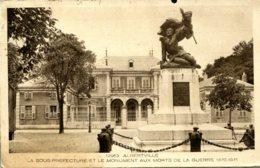CPA -  ALBERTVILLE - SOUS-PREFECTURE ET MONUMENT AUX MORTS - Albertville