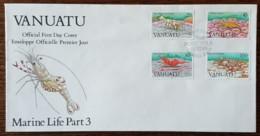 Vanuatu - FDC 1989 - YT N°822 à 825 - Faune Marine / Crevettes - Vanuatu (1980-...)