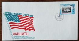 Vanuatu - FDC 1989 - YT N°837 - World Stamp Expo'89 / Exposition Philatélique Mondiale - Vanuatu (1980-...)