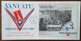 Vanuatu - FDC 1989 - YT BF N°12 - Révolution Française / Exposition Philatélique Mondiale - Vanuatu (1980-...)
