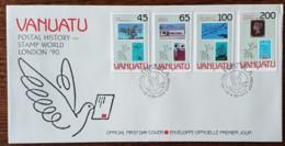 Vanuatu - FDC 1990 - YT N°842 à 845 - London'90 / Exposition Philatélique Mondiale - Vanuatu (1980-...)