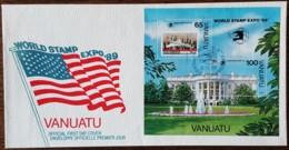 Vanuatu - FDC 1989 - YT BF N°14 - World Stamp Expo'89 / Exposition Philatélique Mondiale - Vanuatu (1980-...)