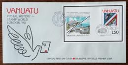 Vanuatu - FDC 1990 - YT BF N°15 - London'90 / Exposition Philatélique Mondiale - Vanuatu (1980-...)