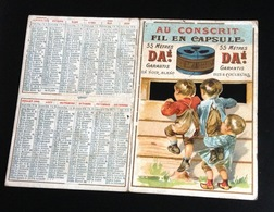 FIL CAPSULE AU CONSCRIT Chromo Calendrier Ajouré 1900 - Calendriers
