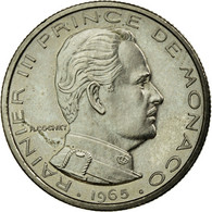 Monnaie, Monaco, Rainier III, 1/2 Franc, 1965, Paris, ESSAI, SPL, Nickel, KM:E52 - 1960-2001 Nouveaux Francs