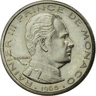 Monnaie, Monaco, Rainier III, 1/2 Franc, 1965, Paris, ESSAI, SPL, Nickel, KM:E52 - 1960-2001 New Francs