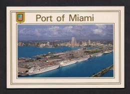 BATEAUX - PORT OF MIAMI - CRUISE SHIP - PÂQUEBOT - CRUISE CAPITAL OF THE WORLD - PHOTO DAN COWAN - Paquebots