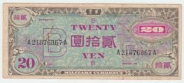 JAPAN 20 Yen 1945 VF+ Pick 73 - Japon