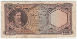 "Greece 1000 Drachmai 1944 ""F"" Banknote Pick 172 - Greece"
