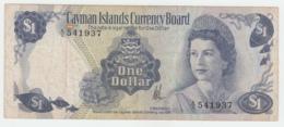 CAYMAN ISLANDS 1 Dollar 1974 VF Pick 5b 5 B (A/3) - Kaimaninseln