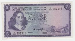 South Africa 5 Rand 1967 - 1974 AUNC Pick 112b 112 B - Afrique Du Sud