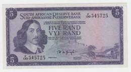 South Africa 5 Rand 1967 - 1974 VF++ Pick 111b 111 B - Afrique Du Sud