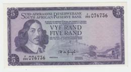 South Africa 5 Rand 1975 AUNC Pick 112c 112 C - Afrique Du Sud