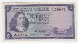 South Africa 5 Rand 1967 - 1974 VF+ Pick 111b 111 B - Afrique Du Sud