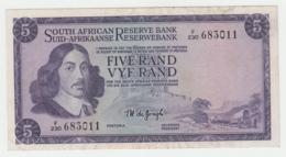 South Africa 5 Rand 1975 VF+ Pick 111c 111 C - Afrique Du Sud