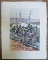 PIERRE ALBERT LEROUX - L'armée Française - Belle Planche Rehaussée Aux Coloris - Vers 1930 - 32 Cm * 24 Cm - Altri
