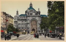 AL41 Antwerpen Anvers, De Keyserlei En Middenstatie - Animated, Trams, Cars, Cyclists - Antwerpen