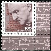 A12-43-6) BRD - Mi 1888 ECKE REU - ** Postfrisch (A) - 100Pf                     Anton Bruckner - Unused Stamps