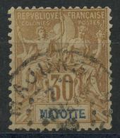 Mayotte (1892) N 10 (o) - Oblitérés