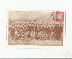 WAKIKUYU (KENYA) BELLE ANIMATION 1906. CACHET PAQUEBOT LA REUNION A MARSEILLE LU N° 1 . 1° SUR TIMBRE UGANDA - Kenya
