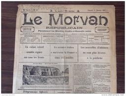 WW1 - Journal Du 24 Février 1917 -  LE MORVAN RÉPUBLICAIN - BELGIQUE ABRIS DANS LES DUNES - Documents Historiques