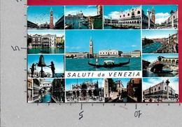 CARTOLINA VG ITALIA - Saluti Da VENEZIA - Vedutine Multivue - 9 X 14 - ANN. 1964 - Saluti Da.../ Gruss Aus...