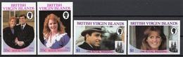 British Virgin Islands 1986 Sc. 537-540 Wedding Prince Andrew Sarah Ferguson Sheet Imperf. Nuovo Full Set - British Virgin Islands