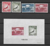 75 ANS UPU - JAPAN - 1949 - YVERT N° 429/432 + BF26 ** MNH - COTE = 65 EUR. - Corée Du Sud
